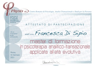 Master in psicoterapia analitico – transazionale applicata all'età evolutiva