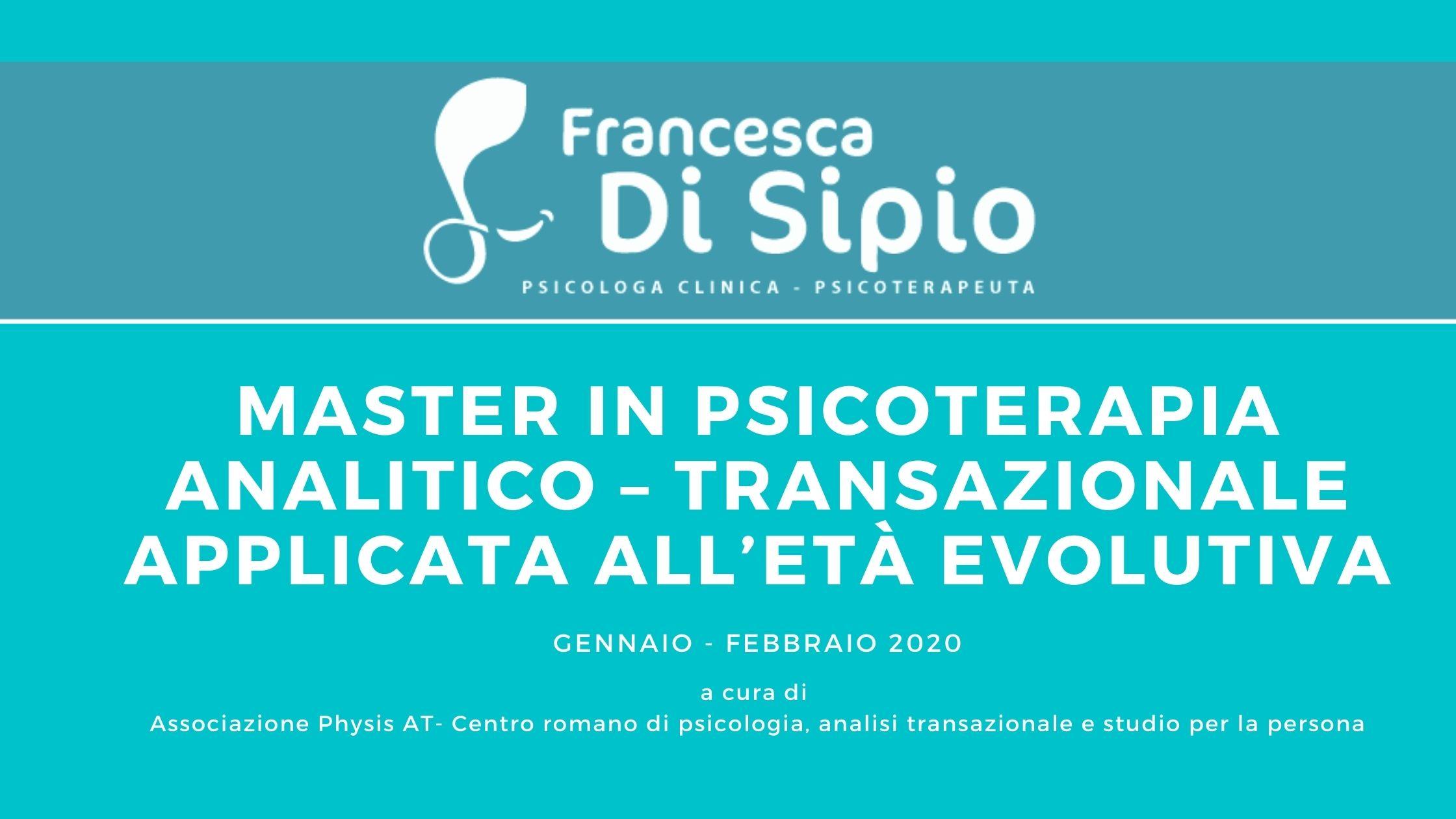 Master in psicoterapia analitico – transazionale applicata all'età evolutiva