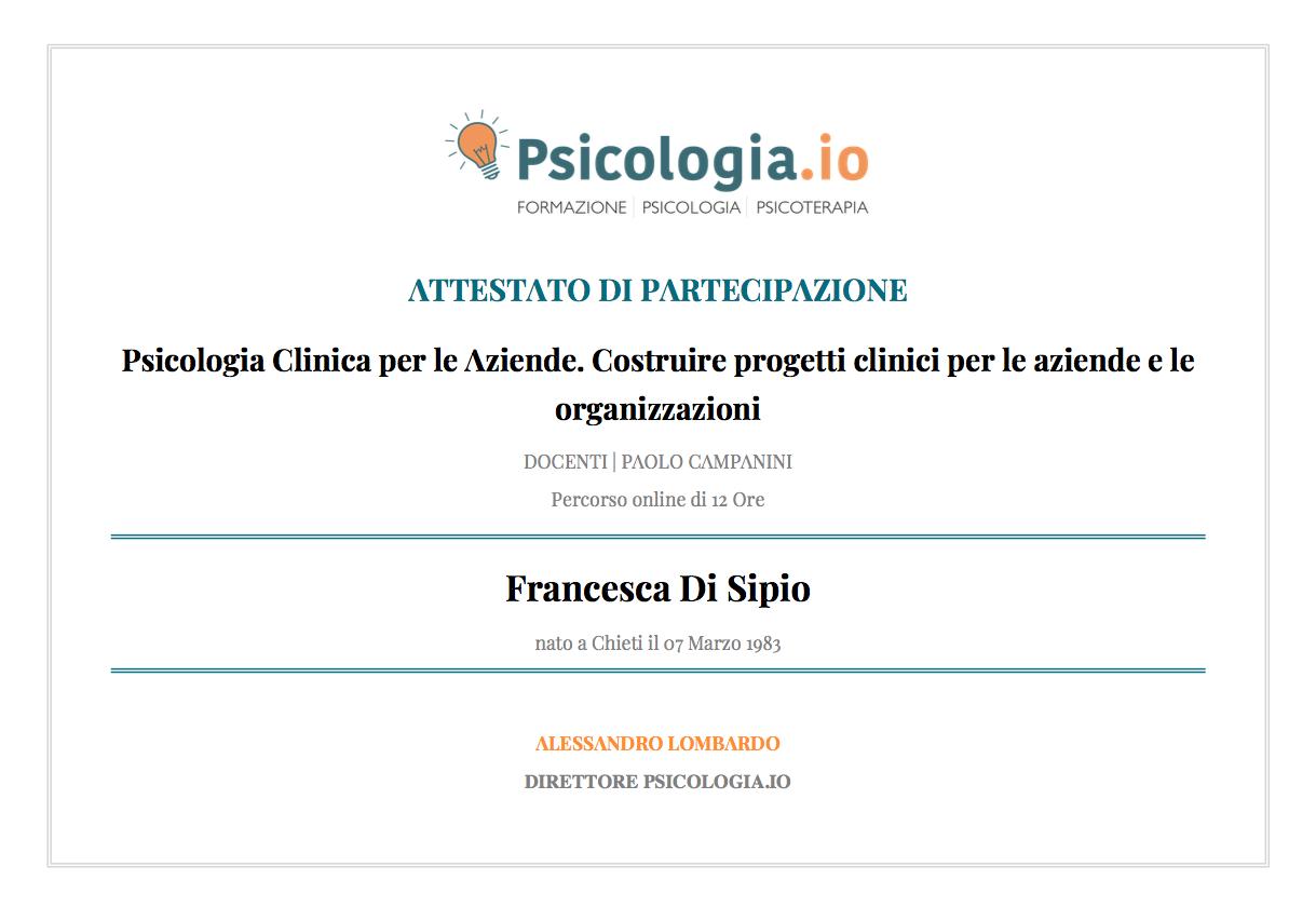 Psicologia Clinica per le Aziende. Costruire progetti clinici per le aziende e le organizzazioni