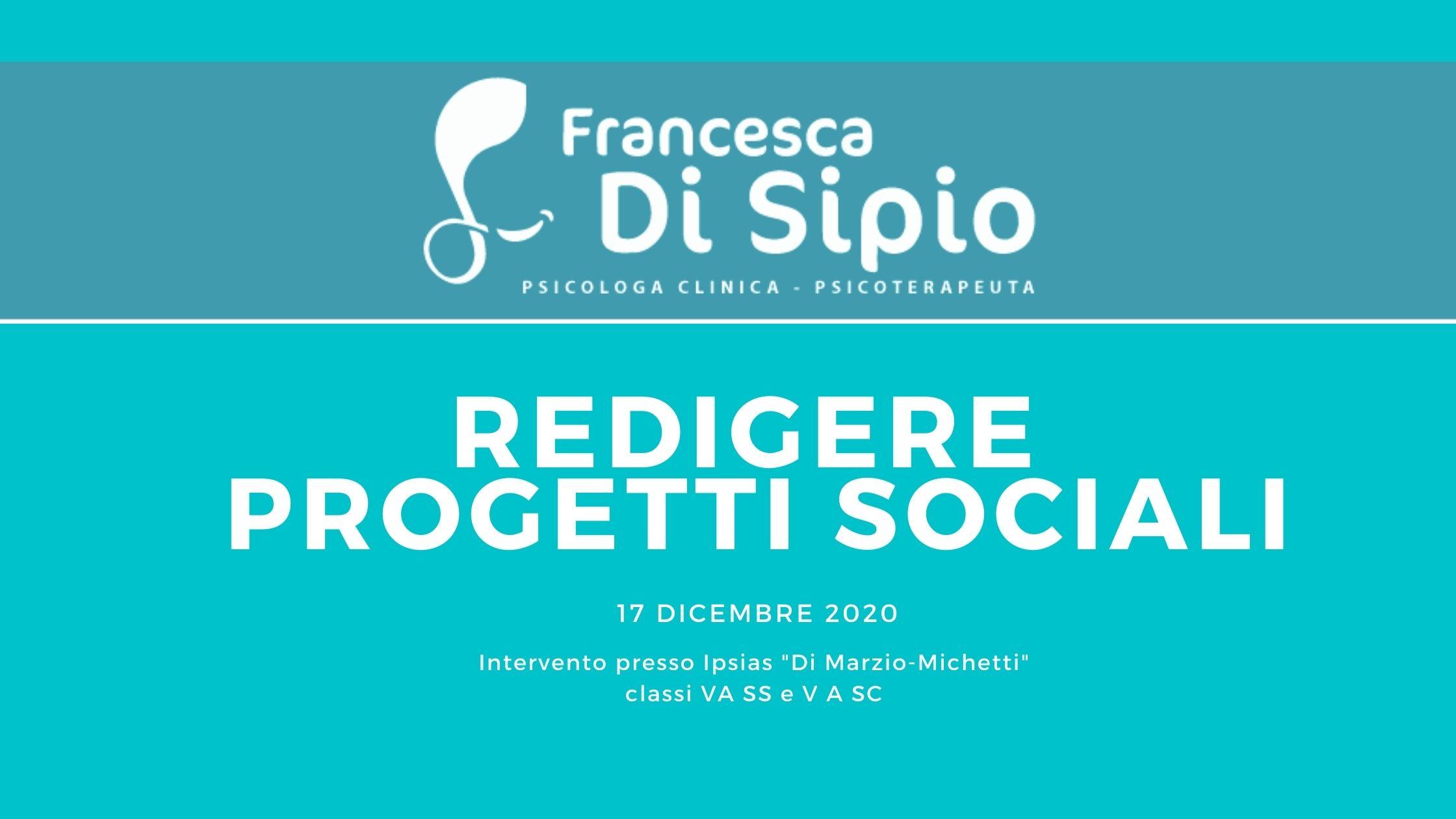 """Intervento presso Istituto Professioanale """"Di Marzio-Michetti"""""""